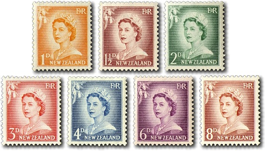 1955 Queen Elizabeth II - Larger Figures