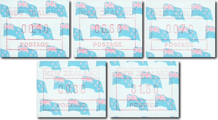 1988 New Zealand Flag Frama Stamps