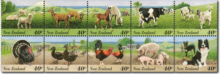 1995 Farm Animals Booklet - Postal Rate Decrease