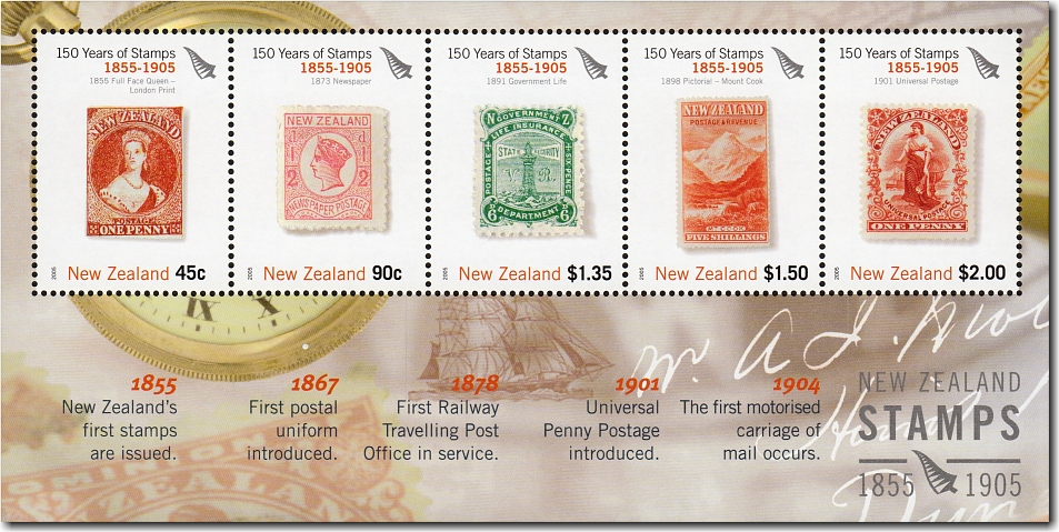2005 150 Years of Stamps 1855 - 1905