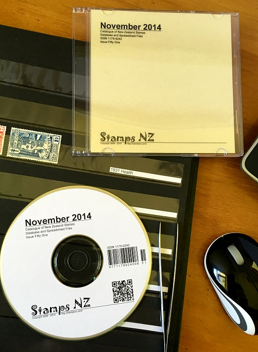 Catalogue of New Zealand Stamps on CD-ROM or USB Flash Drive