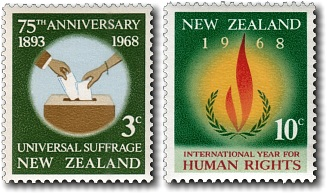 1968 75th Anniversary Universal Suffrage / Human Rights