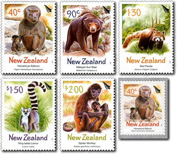 2004 Zoo Animals / The Year of the Monkey